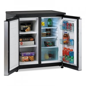 Avanti 5.5 CF Side by Side Refrigerator/Freezer, Black/Stainless Steel AVARMS551SS RMS551SS