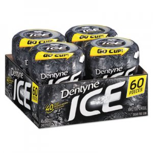 Dentyne Ice Sugarless Gum, Arctic Chill, 60 Pieces/Cup, 4 Cups/Pack CDB10512 00 12546 31050 04