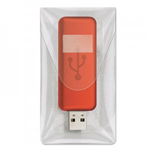 Cardinal HOLD IT USB Pockets, 3 7/16 x 2, Clear, 6/Pack CRD21140 21140