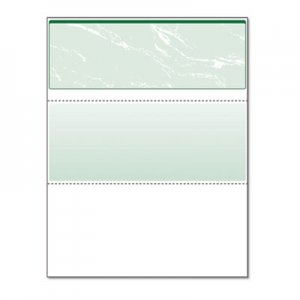 DocuGard Standard Security Check, Green Marble Top, 11 Features, 8 1/2 x 11, 500/RM PRB04502 04502
