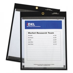 """C-Line Magnetic Stitched Shop Ticket Holders, Clear, 75"""", 9 x 12, 25/Box CLI85912 85912"""