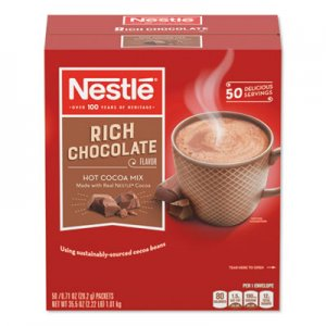 Nestle Hot Cocoa Mix, Rich Chocolate, 0.71 oz Packets, 50/Box, 6 Box/Carton NES25485CT 25485CT
