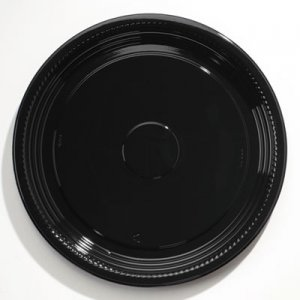 """WNA Caterline Casuals Thermoformed Platters, PET, Black, 18"""" Diameter WNAA518PBL WNA A518PBL"""