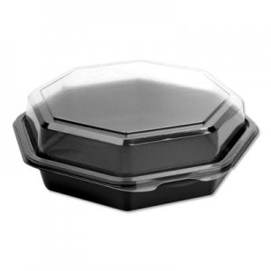 Dart OctaView CF Containers, Black/Clear, 21oz, 7.94w x 7.48d x 2.36h, 100/Carton SCC865611PS94 865611-PS94