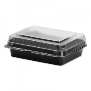 Dart Specialty Containers, Black/Clear, 18oz, 6.22w x 5.91d x 2.09h, 200/Carton SCC851611PS94 851611-PS94