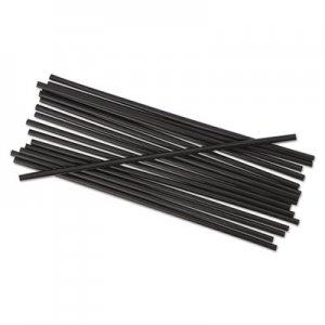 "Boardwalk Single-Tube Stir-Straws, 5 1/4"", Black, 1000/Pack BWKSTRU525B10PK"