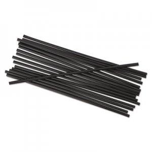 "Boardwalk Single-Tube Stir-Straws, 5 1/4"", Black, 1000/Pack, 10/Carton BWKSTRU525B10"
