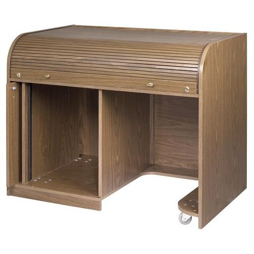 Raxxess Cherry Elite Roll Top Desk with Seating Cutout ERT-CHSD