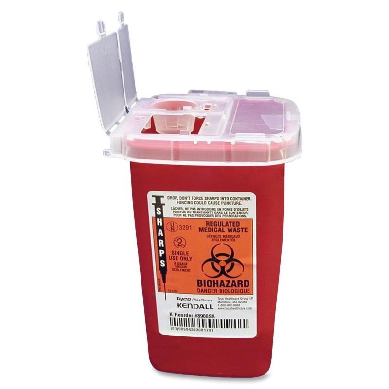 Covidien Sharps 1 Quart Phlebotomy Container With Lid SR1Q100900 CVDSR1Q100900