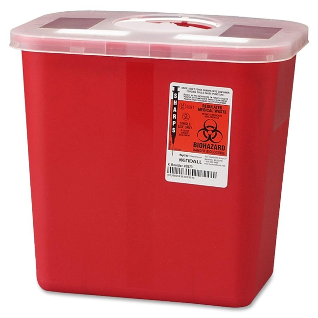 Covidien Sharps 2 Gallon Container With Rotor Lid SRRO100970 CVDSRRO100970