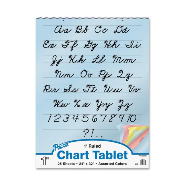 Pacon Colored Paper Chart Tablets 74731 PAC74731