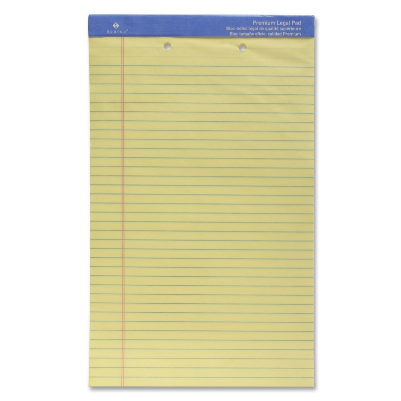 Sparco 2-Hole Punched Ruled Legal Pads 10142HP SPR10142HP