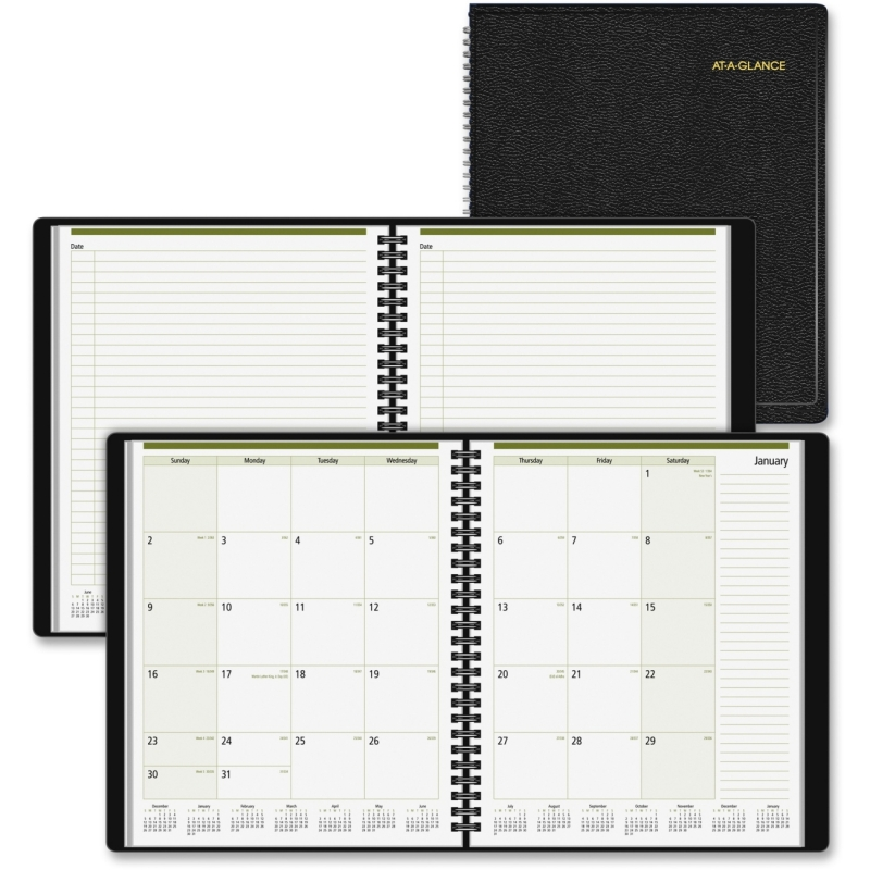At-A-Glance Professional Notetaker Monthly Planner 70-730-05 AAG7073005