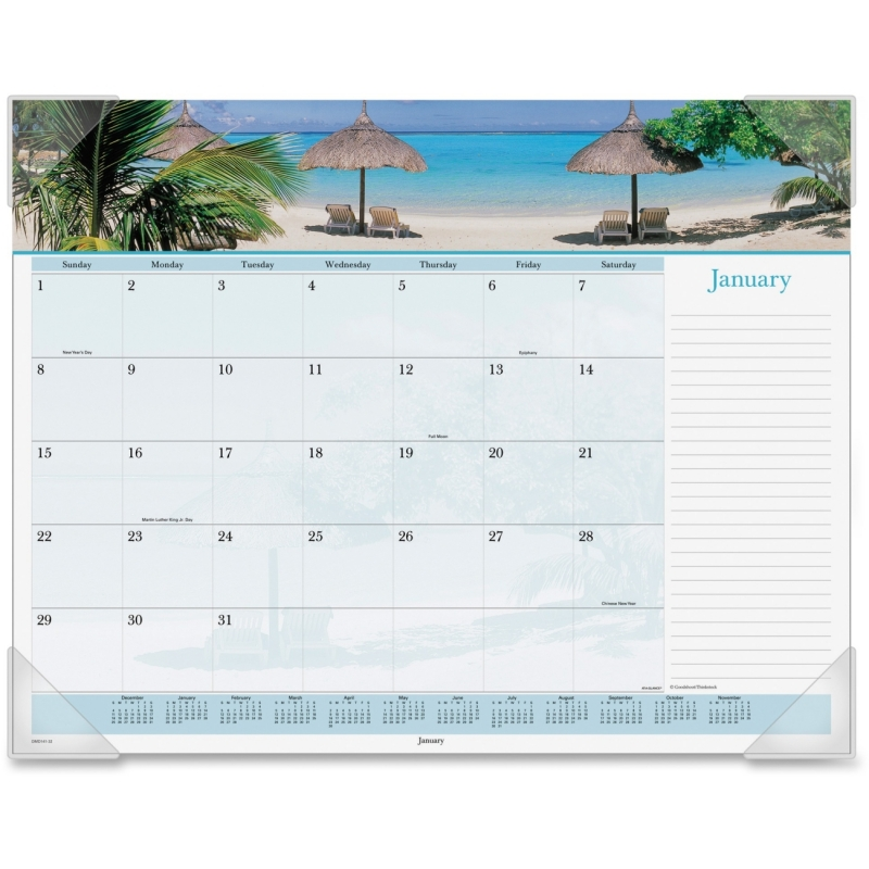 At-A-Glance Images Of The Sea Monthly Desk Pad Calendar DMD14132 AAGDMD14132