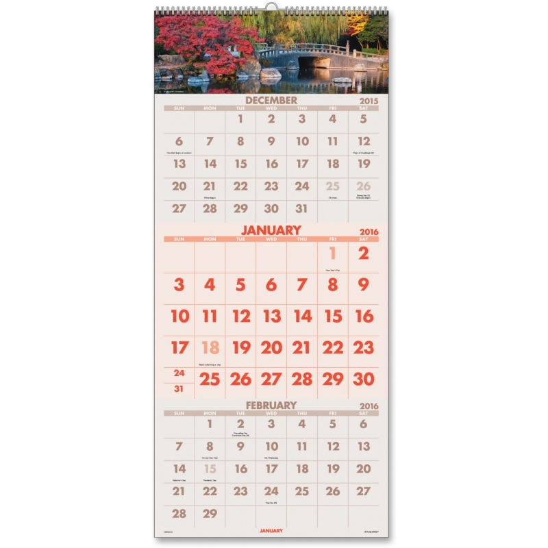 At-A-Glance At-A-Glance Scenic 3-Months Per Page Panoramic Wall Calendar DMW50328 AAGDMW50328
