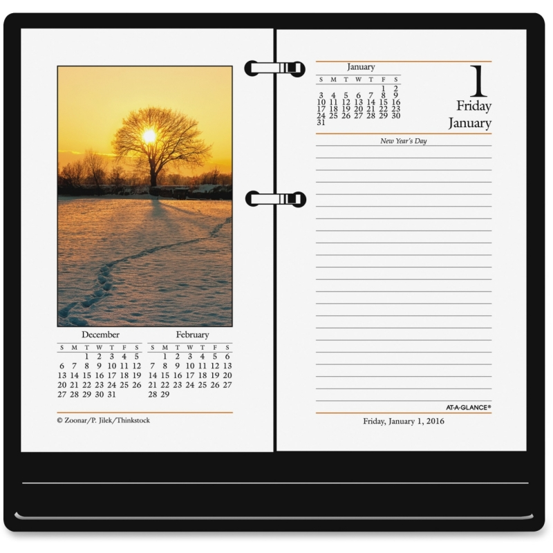 At-A-Glance At-A-Glance Photographic Desk Calendar Refill E417-50 AAGE41750