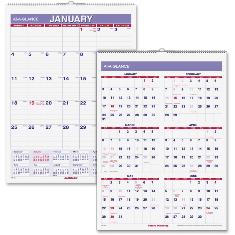 At-A-Glance At-A-Glance Wall Calendar with Hanger PM1-28 AAGPM128