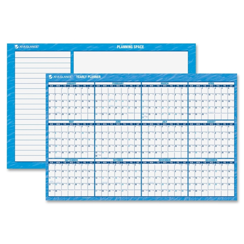 At-A-Glance At-A-Glance Erasable Yearly Horizontal Wall Planner PM300-28 AAGPM30028