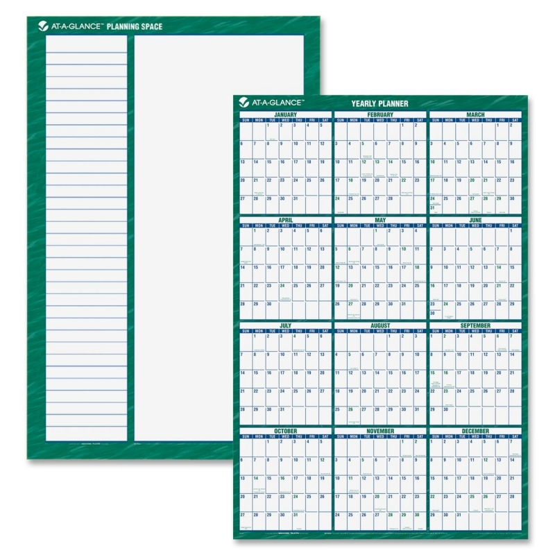 At-A-Glance At-A-Glance Yearly Erasable Vertical Wall Planner PM310-28 AAGPM31028