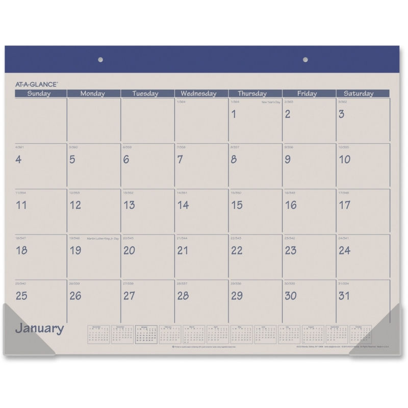 At-A-Glance At-A-Glance Monthly Fashion Desk Pad Calendar SK25-17 AAGSK2517