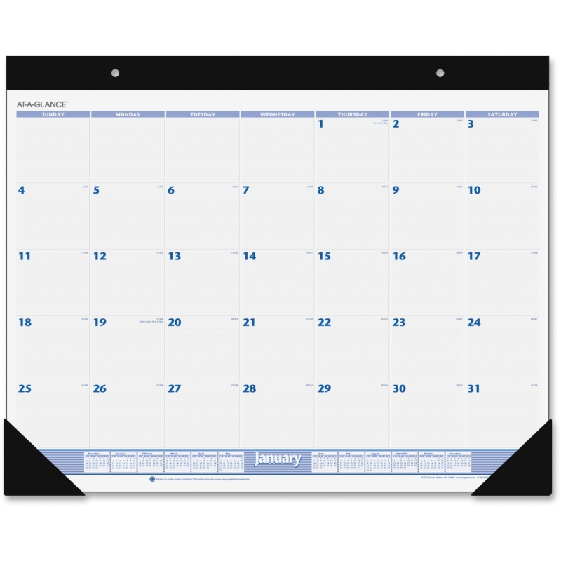 At-A-Glance 12-Months Desk Pad Calendar SW230-00 AAGSW23000