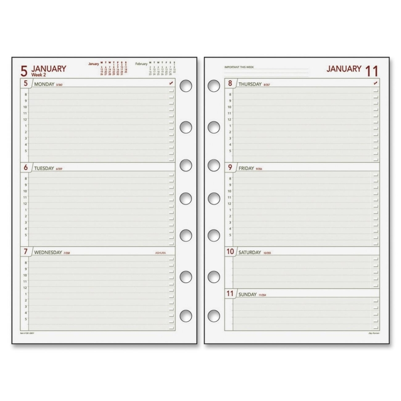 Day Runner Day Runner Express Dated Planner Refill 061-285Y DRN061285Y
