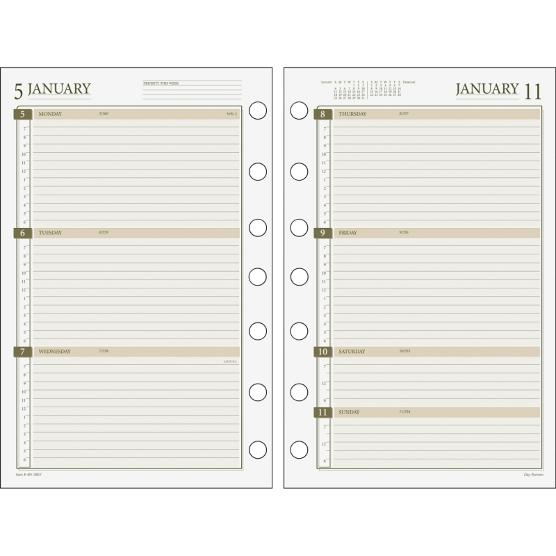 Day Runner Dated Planner Refill 481-285Y DRN481285Y
