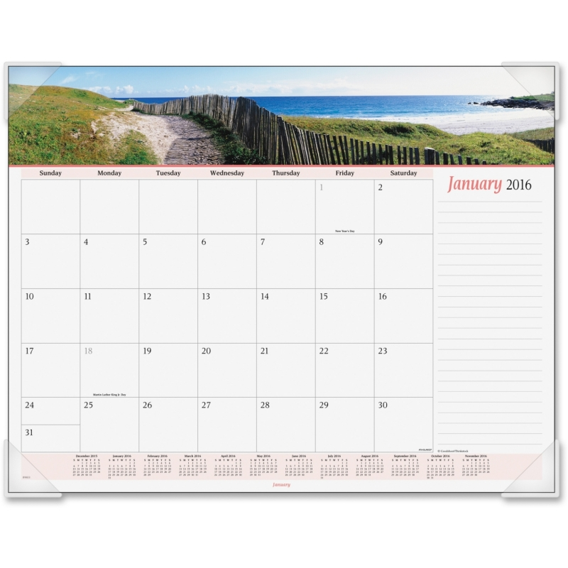 At-A-Glance At-A-Glance Panoramic Seascape Desk Pad Calendar 89803 AAG89803