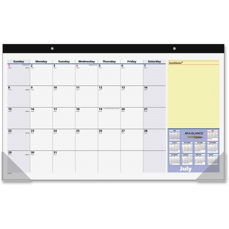 At-A-Glance Monthly Desk Pad Calendar SK72600 AAGSK72600