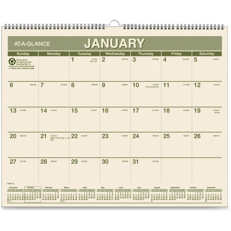 At-A-Glance At-A-Glance Monthly Wall Calender PMG77-28 AAGPMG7728