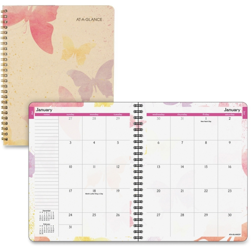 Day Runner Watercolors Planner 791800G AAG791800G