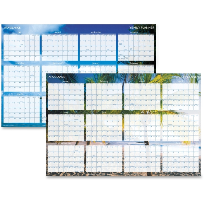 At-A-Glance Tropical Erasable Wall Planner DMWTEE28 AAGDMWTEE28