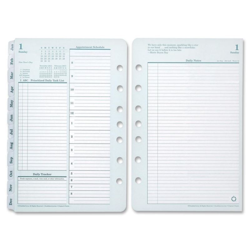 Franklin Covey Compact Planner Refill 35414 FDP35414