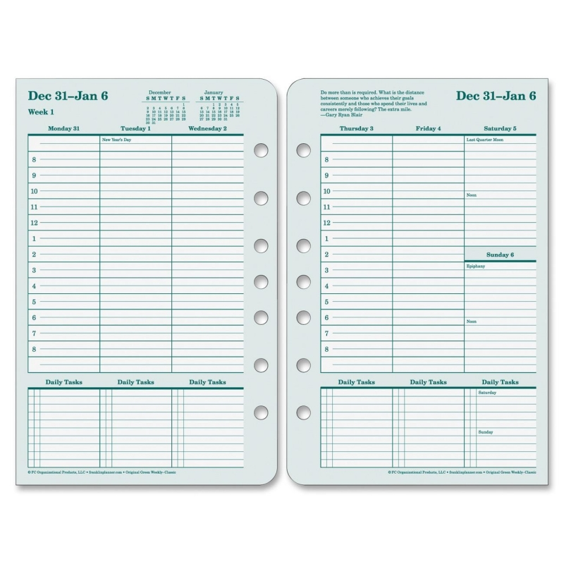 Franklin Covey Original Planner Refill 35423 FDP35423