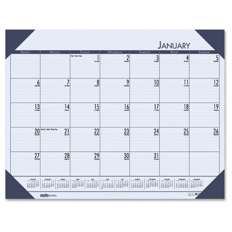 House of Doolittle Compact Calendar Desk Pad 12440 HOD12440