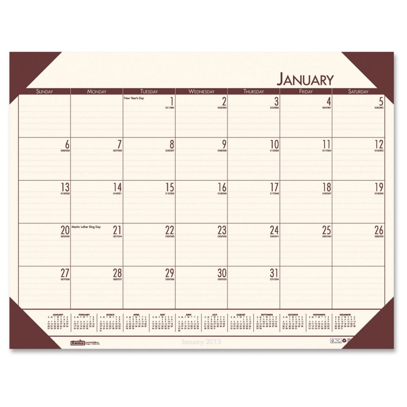 House of Doolittle Compact Calendar Desk Pad 12441 HOD12441