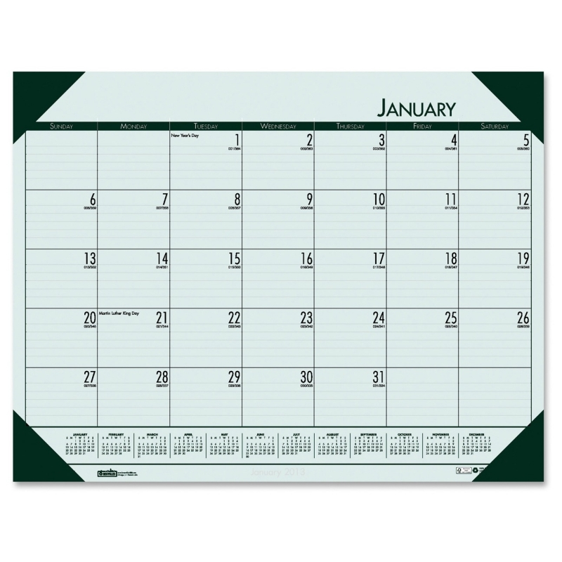House of Doolittle EcoTones Compact Calendar Desk Pad 12471 HOD12471
