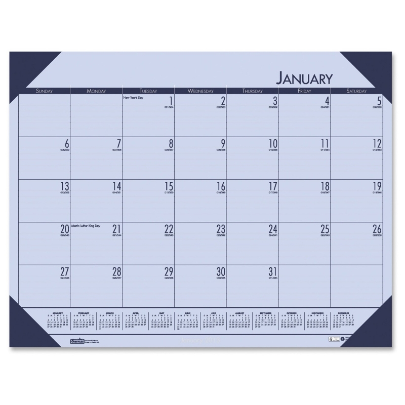 House of Doolittle EcoTones Compact Calendar Desk Pad 12473 HOD12473