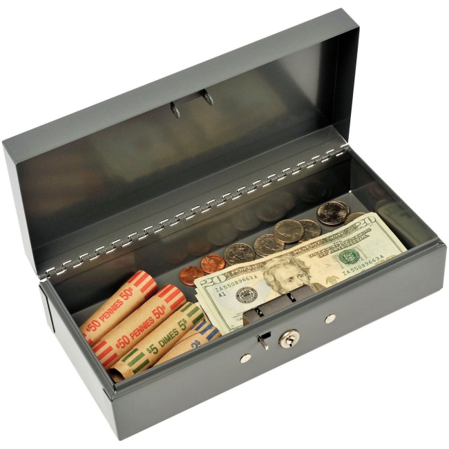 MMF Steelmaster Cash Box with Lock 2212CBGY MMF2212CBGY