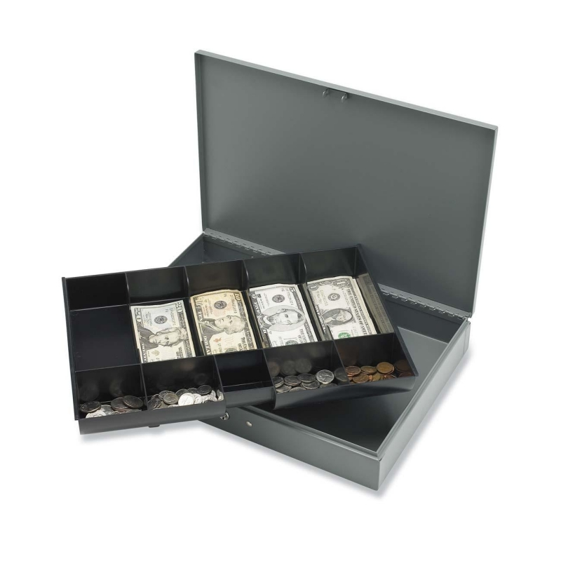 Sparco Cash Box with Tray 15500 SPR15500