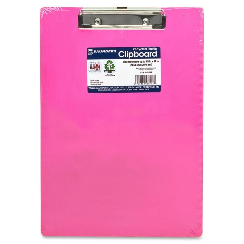 Saunders Neon Plastic Clipboard 21594 SAU21594