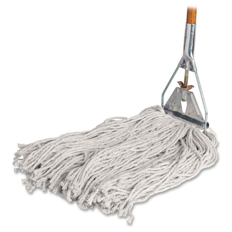 Genuine Joe Cotton Wet Mop with Handle 54201 GJO54201