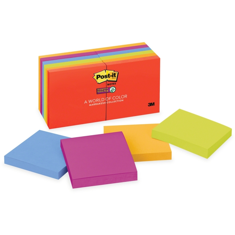 "Post-it Post-it Super Sticky 3""x3"" Marrakesh Notes 65412SSAN MMM65412SSAN"