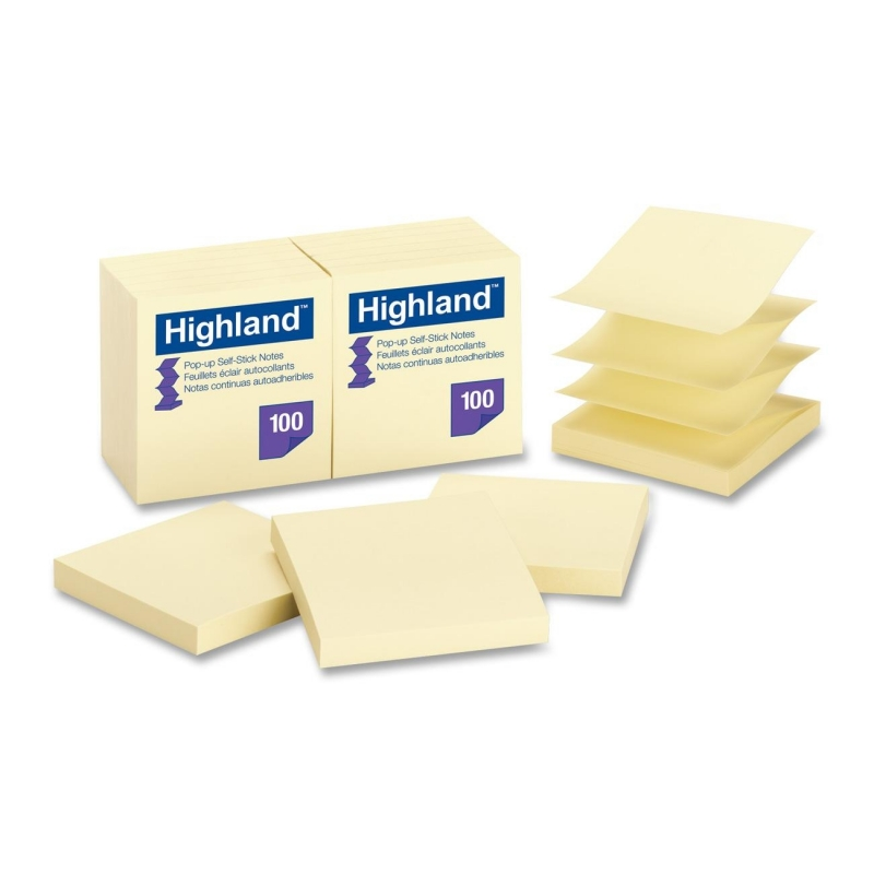 Highland Highland Repositionable Pop-up Note 6549PUY MMM6549PUY