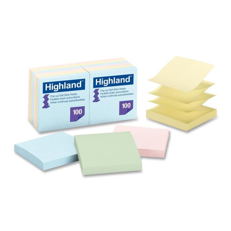 Highland Highland Pop-up Repositionable Pastel Note 6549PUA MMM6549PUA