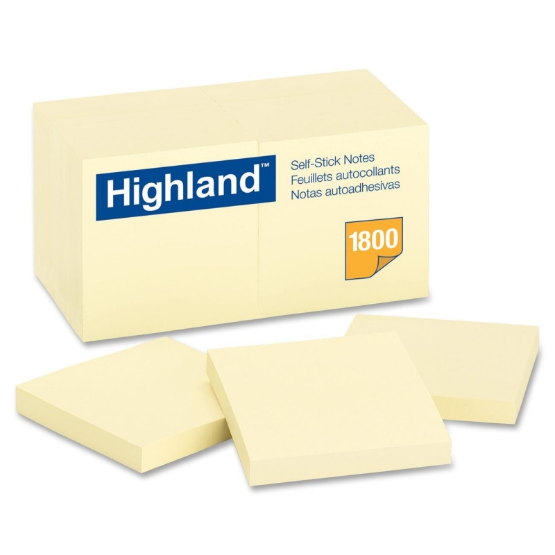 Highland Highland Self Sticking Note 654918PK MMM654918PK