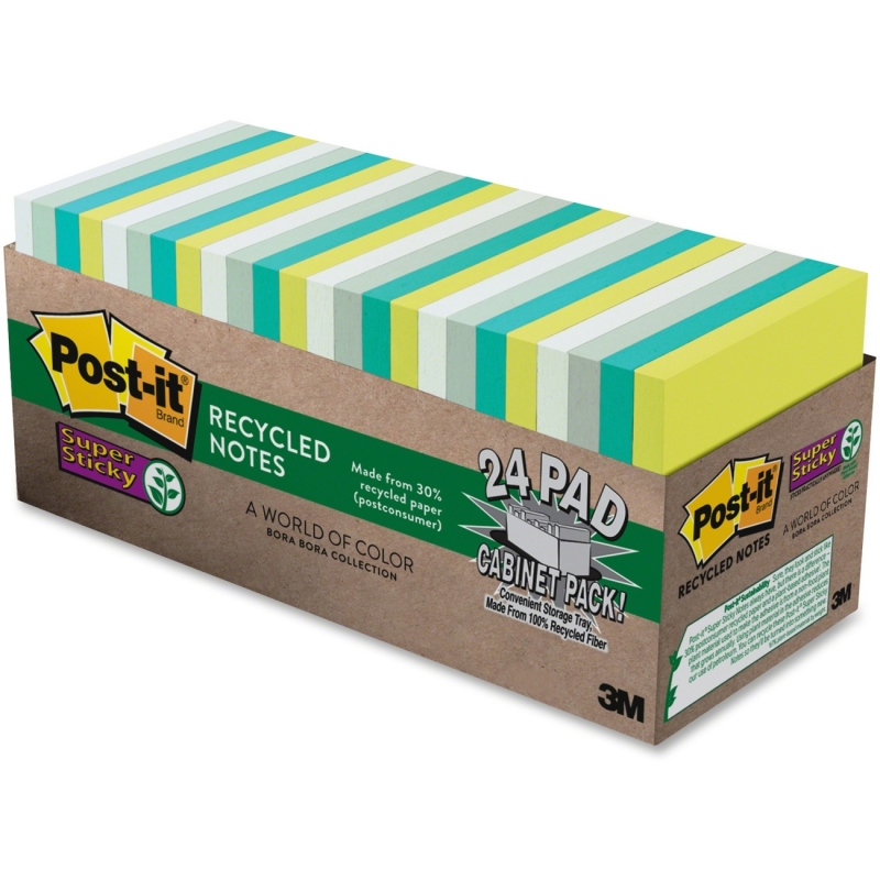 Post-it Post-it Super Sticky Bora Bora Notes 65424SSTCP MMM65424SSTCP 654-24SST-CP