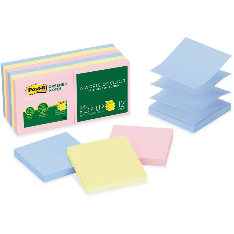 Post-it Post-it Greener Helsinki Pop-up Notes R330RP12AP MMMR330RP12AP
