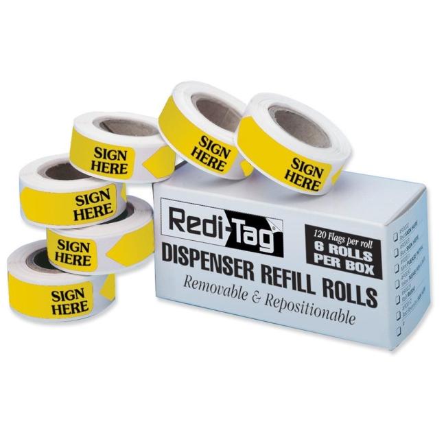 Redi-Tag Redi-Tag Sign Here Tag Refills 91001 RTG91001