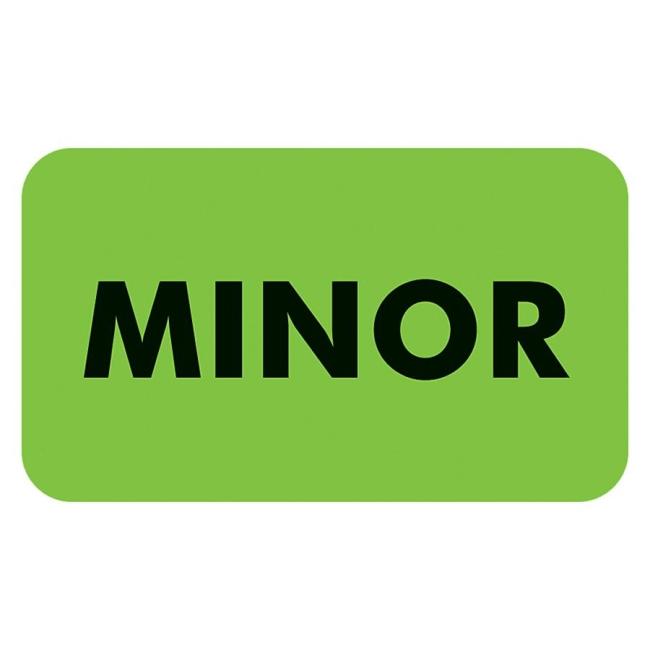 Tabbies MINOR Patient Information Label 03550 TAB03550 MAP3550